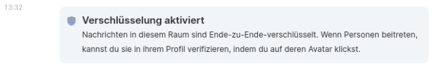 Screenshot: E2EE archiviert