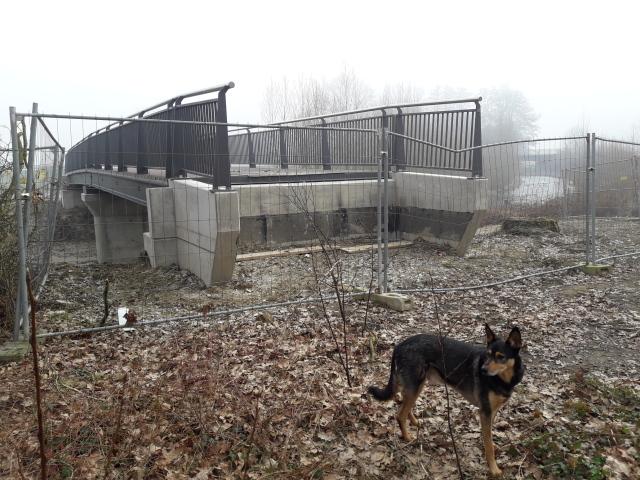 Brücke im Dunst