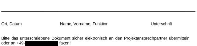 Screenshot - Entweder sicher elektronisch übermitteln oder Fax