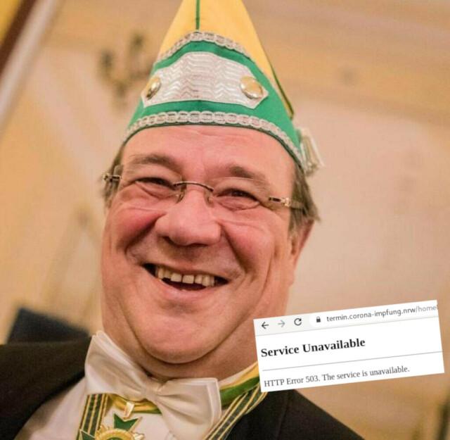 Karnevalsprinz Laschet - Service unavailable